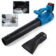 21v Cordless Electric Air Blower Handheld Long Nozzle Blower And2 Lithium Battery