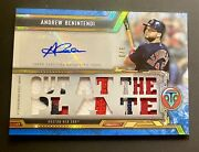 Andrew Benintendi 2020 Topps Triple Threads Auto Jersey Relic 10/18 Red Sox