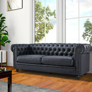 New Living Room Sofatufted Leather Cushion 1 Seater / 3 Seater Couch Armchair