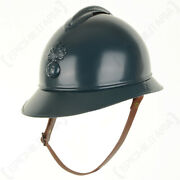 French Ww1 Adrian Helmet Leather Liner And Chin Strap M15 Army Military Repro New