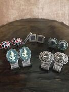 Vintage Vtg Swank Cuff Links Lot Of 5 With Tie Clip