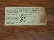 Nyc Vintage Ticket National Arts And Antiques Festival Armory Park Ave Old Stub