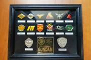 Mobile Suit Gundam 20th Anniversary Pin Badge Framed Limited Rare Japan Anime