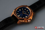 Lum-tec Watch V13 18k-gold-tone Blue Dial Big Date Limited Edition Auth Dealer