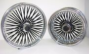 Dna Mammoth Fat 52 Spoke 21x3.5 / 18x5.5 Chrome And Ral5022 Blue Wheel Set W/ Abs