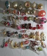 55 Vintage Antique Mouth Blown Glass Christmas Ornaments Various Assorted
