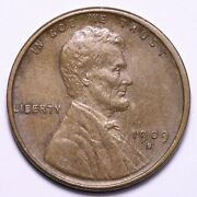 1909-s Vdb Lincoln Wheat Cent Penny Choice Unc Free Shipping E724 Kplm