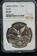 2006 Mexico Libertad Silver 1 Troy Ounce Coin Ngc Ms69 Ngc Top Pop