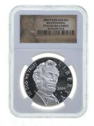 2009-p Abraham Lincoln Commemorative Silver Dollar Ngc Pf69dcam Special Label