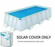 Bestway Solar Cover Rectangular Swimming Pool Fits 4m X2m 13.5ft Keep Water Warm
