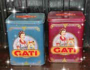 Vintage Rare Argentina Litho Tin Box Food For Cats Louis Wain Style Lot Set