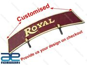Customized Front Mud License Number Plate For Royal Enfield Bsa Norton Ajs Ecs