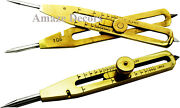 9 Solid Brass Divider Drafting Proportional Tool Engineer Navigational Compass