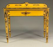 Maine Country Sheraton Paint Decorated Pine Dressing Table.