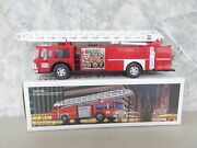 Vintage 1986 Red Hess Toy Fire Truck Bank Extension Ladder Box 13 Hong Kong New