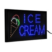 Alpine Industries 19 X 10 Led Ice Cream Sign W/ Two Display Modes 2pk