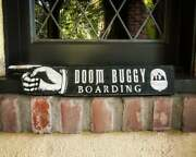 Doom Buggy Solid Wood And Paint Sign