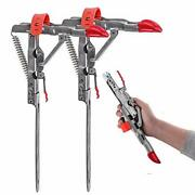 Automatic Spring Fishing Rod Holder, Stainless Steel Folding Rod Stand For