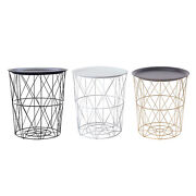 Side Table Hollow Out Round End Tables Nesting For Farmhouse Office Home