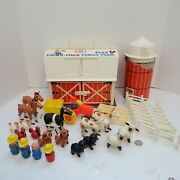 Vtg 1967 Fisher Price Little People Play Family Farm Toy Set 915 W/ Extras