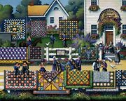 Jigsaw Puzzle Americana Amish Quilts Quilting Bee 500 Piece New