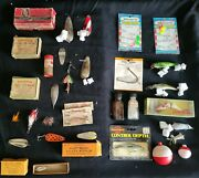 Antique Fishing Lures And Tackle Lot