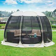 Screen House Room Camping Tent Outdoor Canopy Dining Gazebo Pop Up Sun Shade Hex