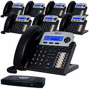 Xblue X16 Small Business 8 Phone System Bundle - Six Outside Lines And Sixteen Pho
