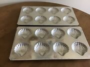 Williams - Sonoma Candy Chocolate Baking Mold 2 Tin Madeline Shell Made France