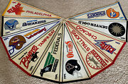 Lot 10 Vintage 80's Usfl Football Pennants Invaders Gold Federals Blitz Outlaws