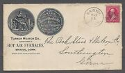 Bristol Ct Turner Heater Co. Hot Air Furnaces 1897 Advertising Cover