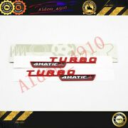 Glossy Red Turbo 4matic+ Side Decal Badge Sticker Mercedes-benz A45s W177 Amg