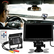 7 Wireless Backup Rear View Camera System Monitor Night Vision For Rv Truck Bus