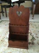 Signed Stickley Mahogany Williamsburg Collection Spoon Rack Shelf