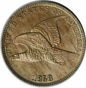 1858 Flying Eagle Cent Large Letters Choice Bu Uncertified 1135