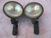 1920and039s-1930and039s 5 1/2 Inch Cats-eye Clear Lens Driving Lights
