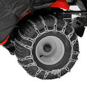 Tractor Tire Chains For 20 In. X 8 In. Wheels Set Of 2 Lawn Snow Rear New