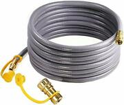 Dozyant 36 Feet 3/8 Inch Natural Gas Hose With Quick Connect For Bbq Gas Gril Lo