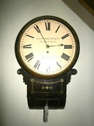 12 Inch Wooden Dial Drop Dial Fusee Wall Clock By John Philips + Co London C1850