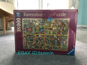 Jigsaw Magic Bookcase Collection 18000 Piece Puzzles Adult Decompress Used Stock