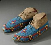 Native American Lakota Style Indian Beaded Cheyenne Moccasins Suede Leather M602