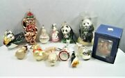 Lot Of 16 Hand Blown Glass Animal Ornaments Lauscha Midwest Ornimals Christborn