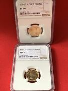 Rare S. Africa 1954 Queen Elizabeth Ii 1and1/2 Pound Pr66 And 67 Gold Coin