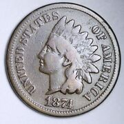 1874 Indian Head Small Cent Choice Fine Free Shipping E129 Wcf