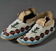 Native American Soiux Style Indian Beaded Cheyenne Moccasins Suede Leather M603