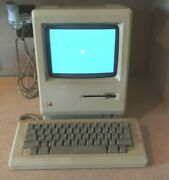 Vtg Apple Macintosh M0001 Computer W/ Printer-mouse-floppy Drive And Carry Case