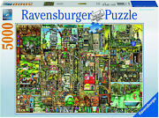 Jigsaw Bizarre Town Colin Thompson 5000 Piece Puzzle Rare New Sealed In Stock