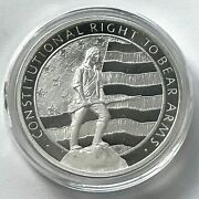 1 Oz .999 Fine Silver Round - 2nd Amendment The Right To Bear Arms - In Capsule