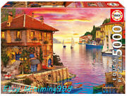 Educa Jigsaw 17135 Mediterranean Harbour 5000 Puzzles Rare New Sealed In Stock