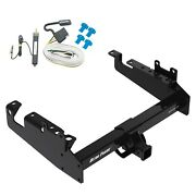 Trailer Tow Hitch For 19-21 Ford F-350 F-450 F-550 Cab And Chassis W/ Wiring Kit